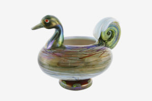 Duck shaped vase