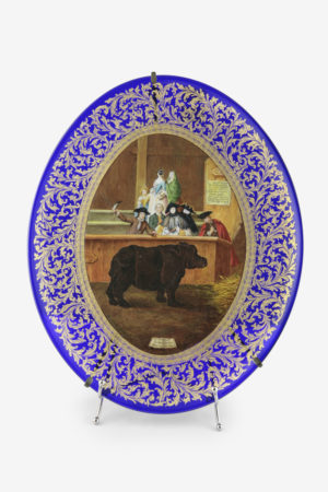 """Il rinoceronte"" decorated plate"