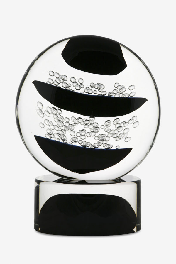 Black and white bubble sculpture
