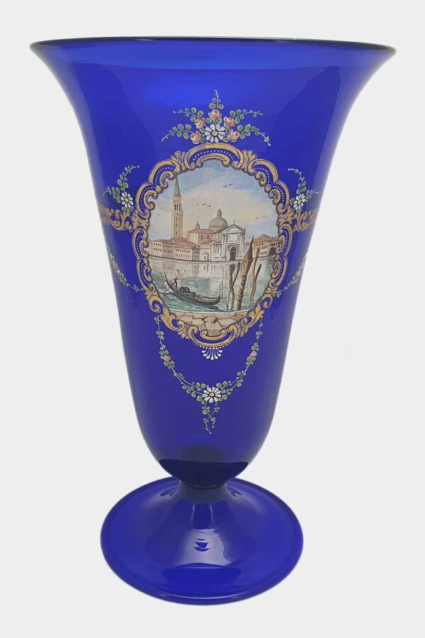 Blue vase Venice View Decoration (1)