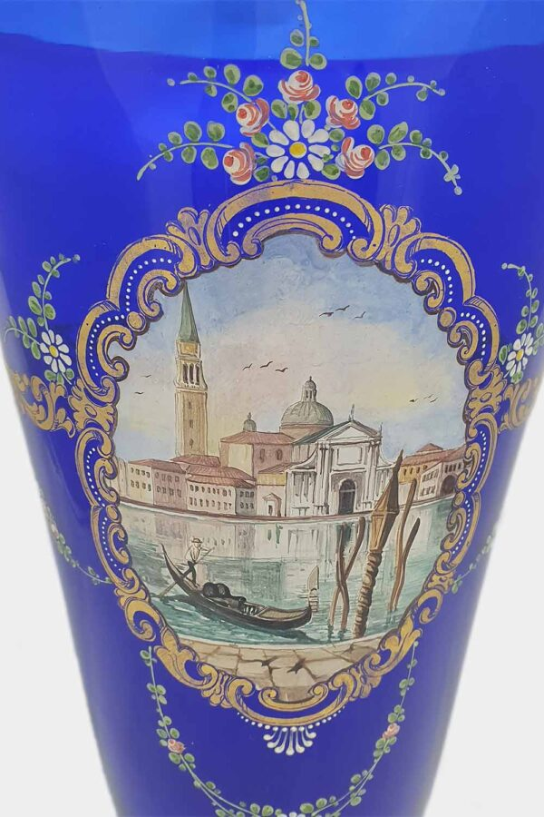 Blue vase Venice View Decoration (2)