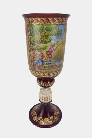 Red Tipetto Goblet Decorated (1)