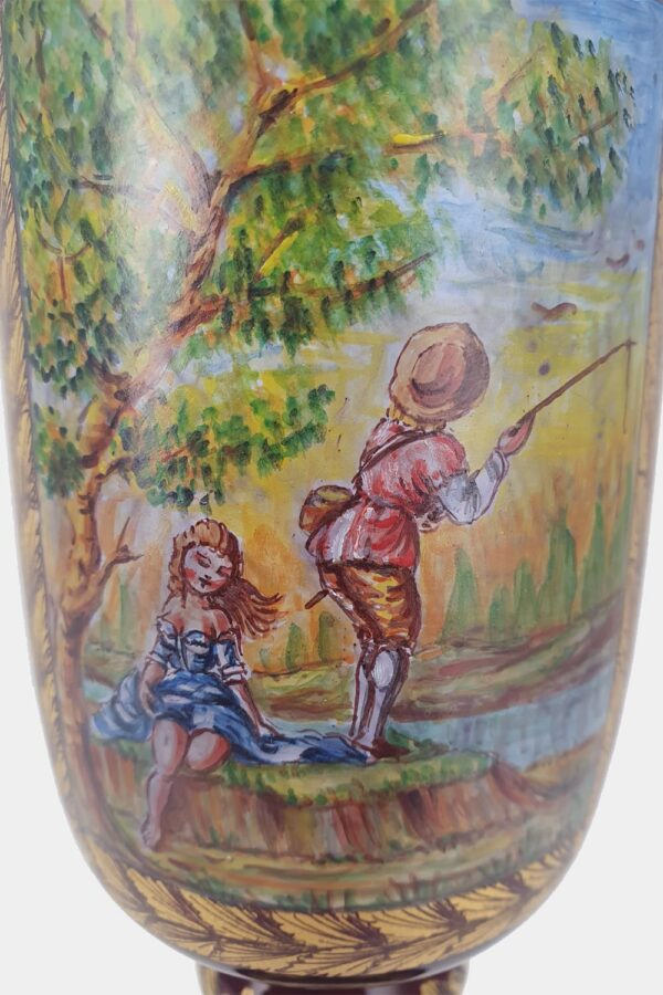Red Tipetto Goblet Decorated (3)