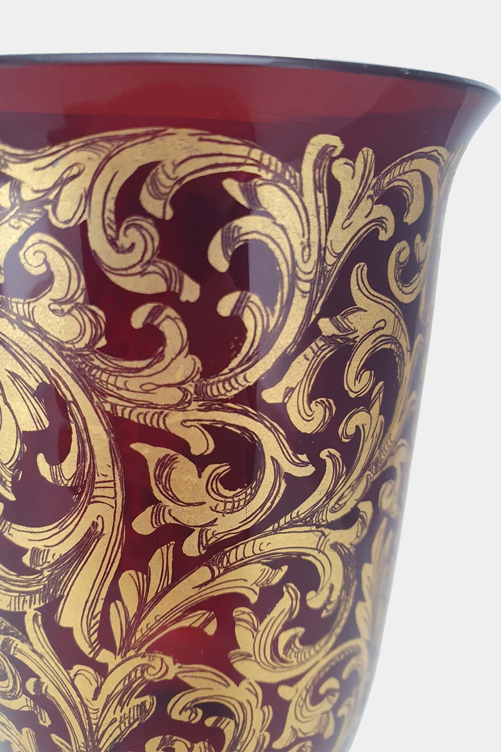 Red Tipetto Goblet Decorated (4)